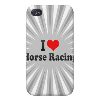 I love Horse Racing iPhone 4 Covers