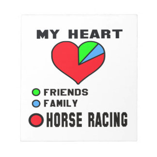 I love Horse Racing. Notepads