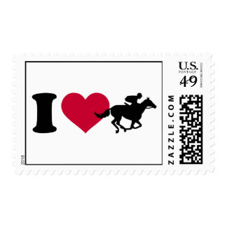 I love horse racing postage