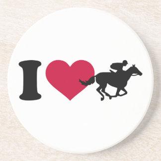 I love horse racing sandstone coaster