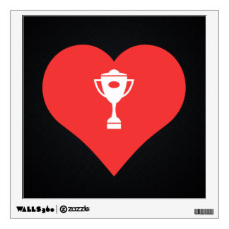 I Love Horse Racing Trophies Wall Decals