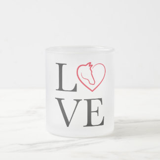 I love horse riding frosted glass coffee mug