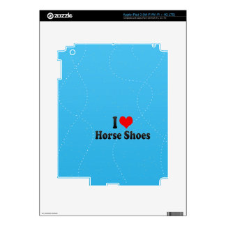 I love Horse Shoes Decal For iPad 3