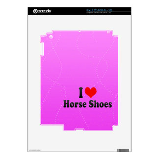 I love Horse Shoes iPad 2 Skins