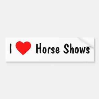 I Love Horse Shows Car Bumper Sticker