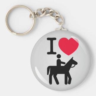 I love horseriding key chain