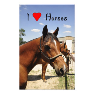 """""""I love Horses"""" Beautiful Horse Stationary Stationery"""