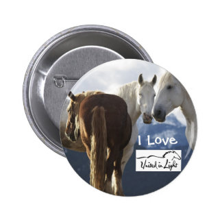 I Love Horses Buttons