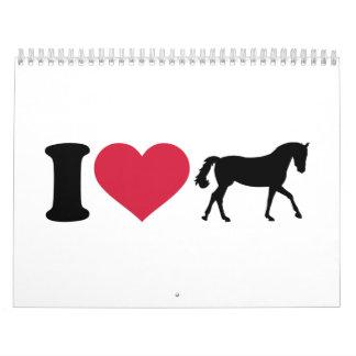 I love horses calendars