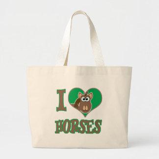 I Love horses Canvas Bags