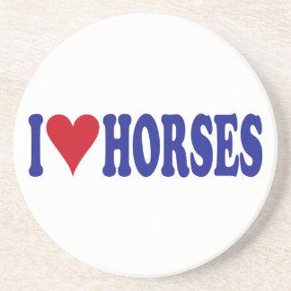 I Love Horses Coaster