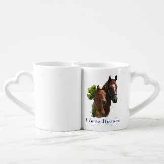 I love horses coffee mug set