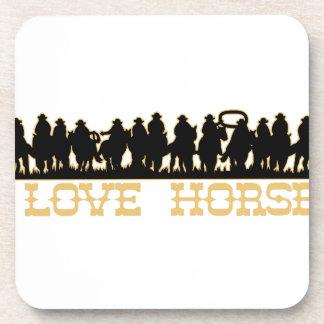 I Love Horses Beverage Coaster