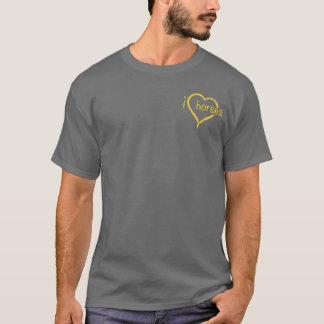 I Love Horses Dark Colors T-Shirt