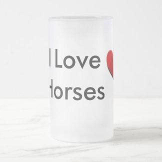 I Love Horses Frosted Mug