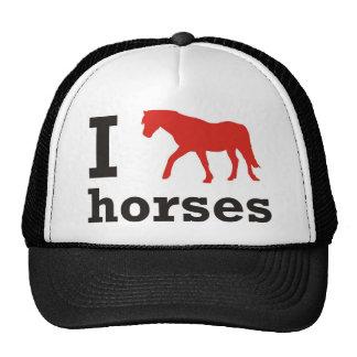 i love horses gorros