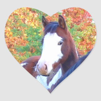 I Love Horses Heart Stickers
