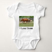 I Love Horses Infant's Clothing Baby Bodysuit