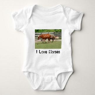I Love Horses Infant's Clothing Tee Shirt