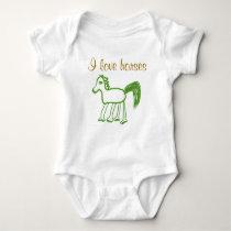 I Love Horses Infant Shirt