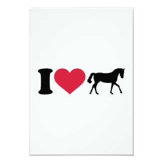 I love horses personalized announcement