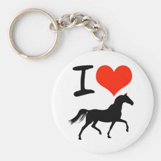 I Love Horses Keychains