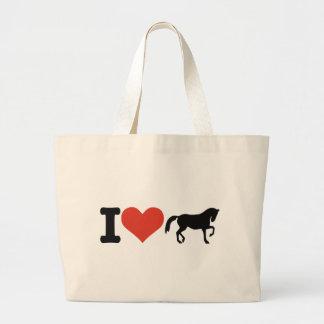 I love Horses Large Tote Bag