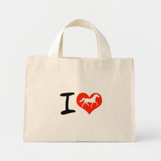 I love horses mini tote bag