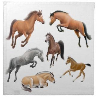I Love Horses Napkin