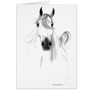 I Love Horses Note Card