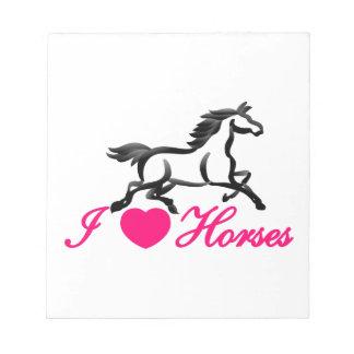 I Love Horses Notepad