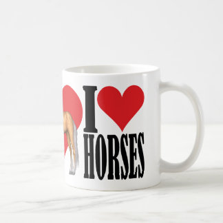 I Love Horses ~ Palomino Coffee Mug