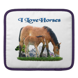 I love Horses products Sleeve For iPads