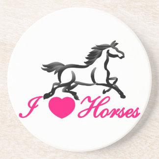 I Love Horses Sandstone Coaster