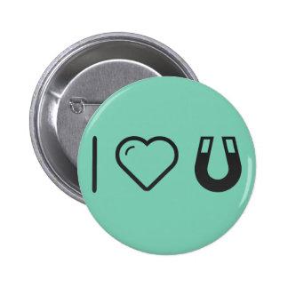 I Love Horseshoe 2 Inch Round Button