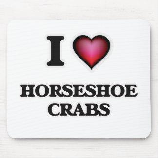 I Love Horseshoe Crabs Mouse Pad