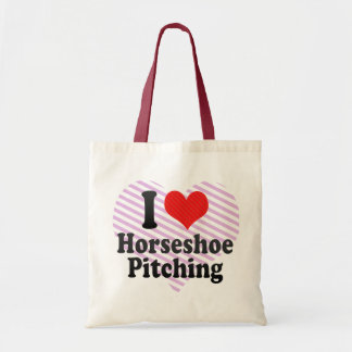 I Love Horseshoe Pitching Budget Tote Bag
