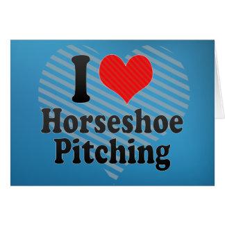 I Love Horseshoe Pitching Greeting Card