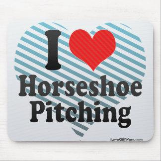 I Love Horseshoe Pitching Mouse Pad