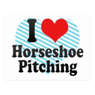 I Love Horseshoe Pitching Postcard