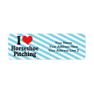 I Love Horseshoe Pitching Return Address Label
