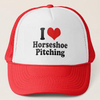I Love Horseshoe Pitching Trucker Hat