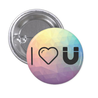 I Love Horseshoes 1 Inch Round Button
