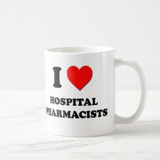 I Love Hospital Pharmacists Classic White Coffee Mug