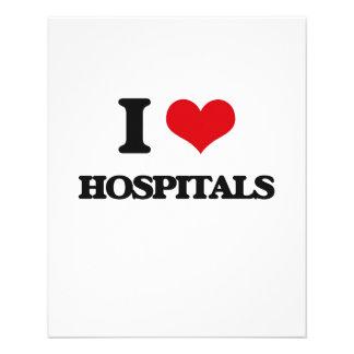 """I love Hospitals 4.5"""" X 5.6"""" Flyer"""