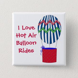I Love Hot Air Balloon Rides Button