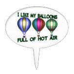 I Love Hot Air Balloons Cake Pick