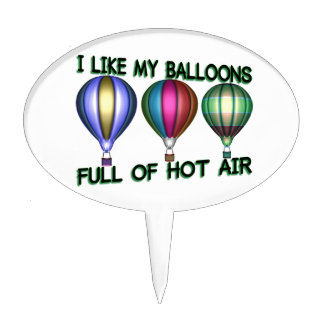 I Love Hot Air Balloons Cake Topper