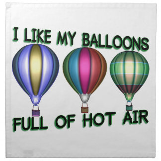 I Love Hot Air Balloons Cloth Napkin
