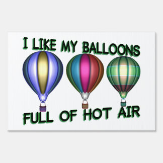 I Love Hot Air Balloons Lawn Sign